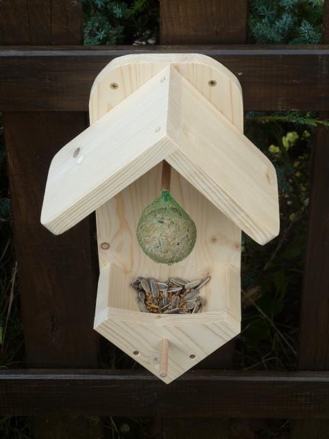 meisenkn delhalter vogelhaus farblos oder mit. Black Bedroom Furniture Sets. Home Design Ideas