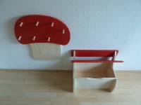SET Kinderbank mit Kindergarderobe